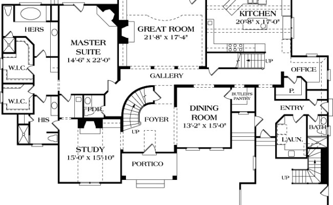 European House Plan 180 1027 4 Bedrm 4747 Sq Ft Home