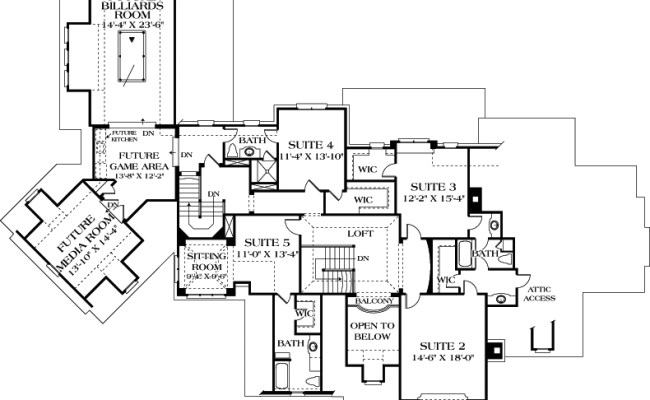 European House Plan 180 1029 5 Bedrm 5191 Sq Ft Home