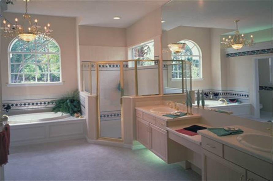 Mediterranean House Plan  4 Bedrms 3 Baths  2660 Sq Ft
