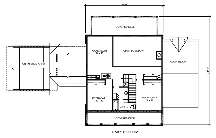 Southern Country House Plan #192-1013: 4 Bedrm, 2965 Sq Ft