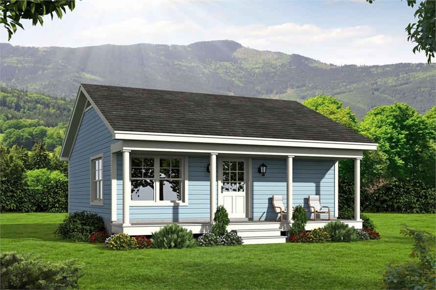 Small Cottage Style House Plan 1 Bedrms 1 Baths 561 Sq Ft 196 1050