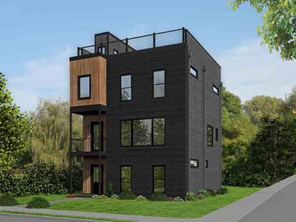 Modern House Plan - 3 Bedrms 3.5 Baths 2344 Sq Ft