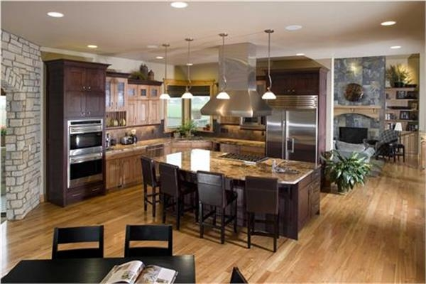 House Plans With Great Kitchens The Plan Collection | House Plans With Stairs In Kitchen | Luxury | Separate Kitchen | Compact Home | 2 Bedroom Townhome | Central Courtyard House