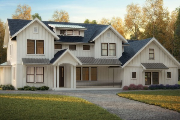 Transitional Exterior Home Design - Vtwctr on traditional home exterior front designs, angled kitchen island designs, modern ranch style house designs,