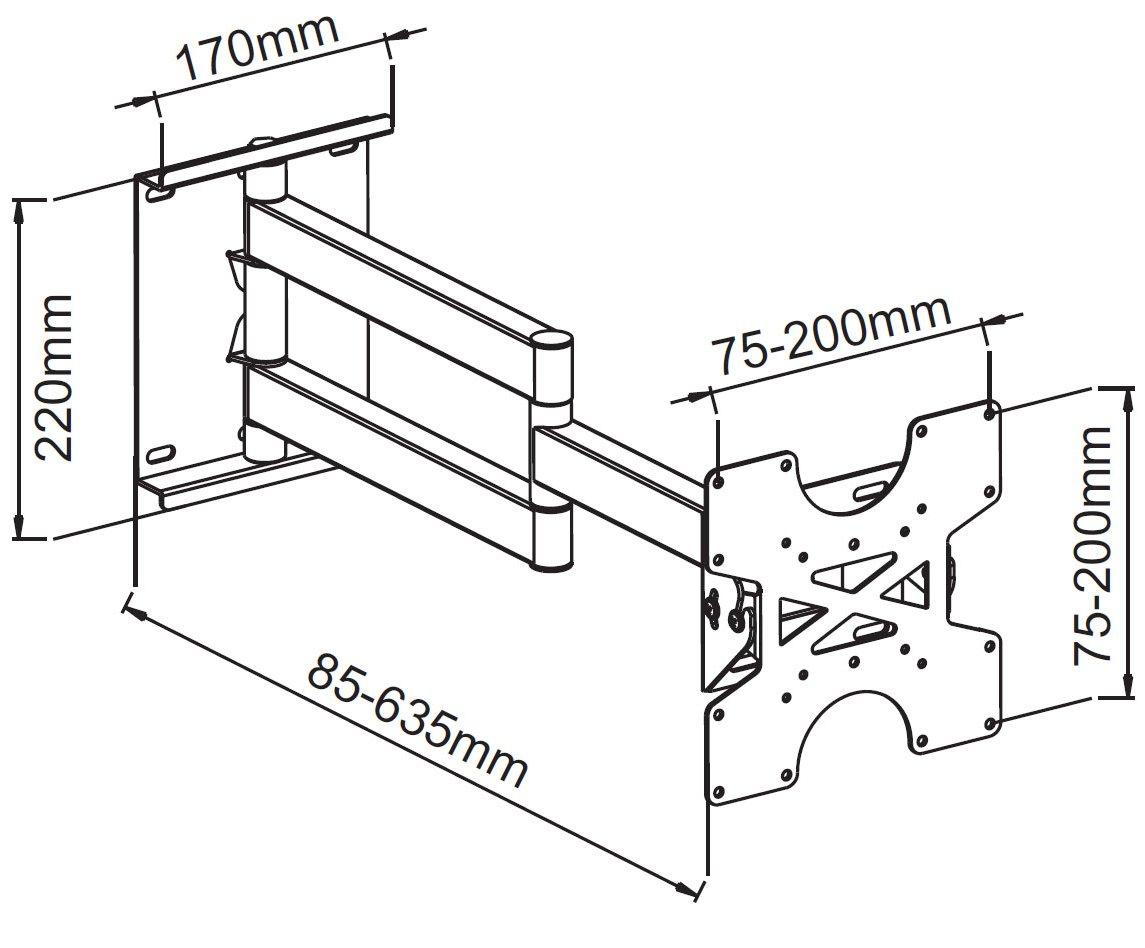 Universal Swing Arm Tilting Wall Bracket for Panasonic 40