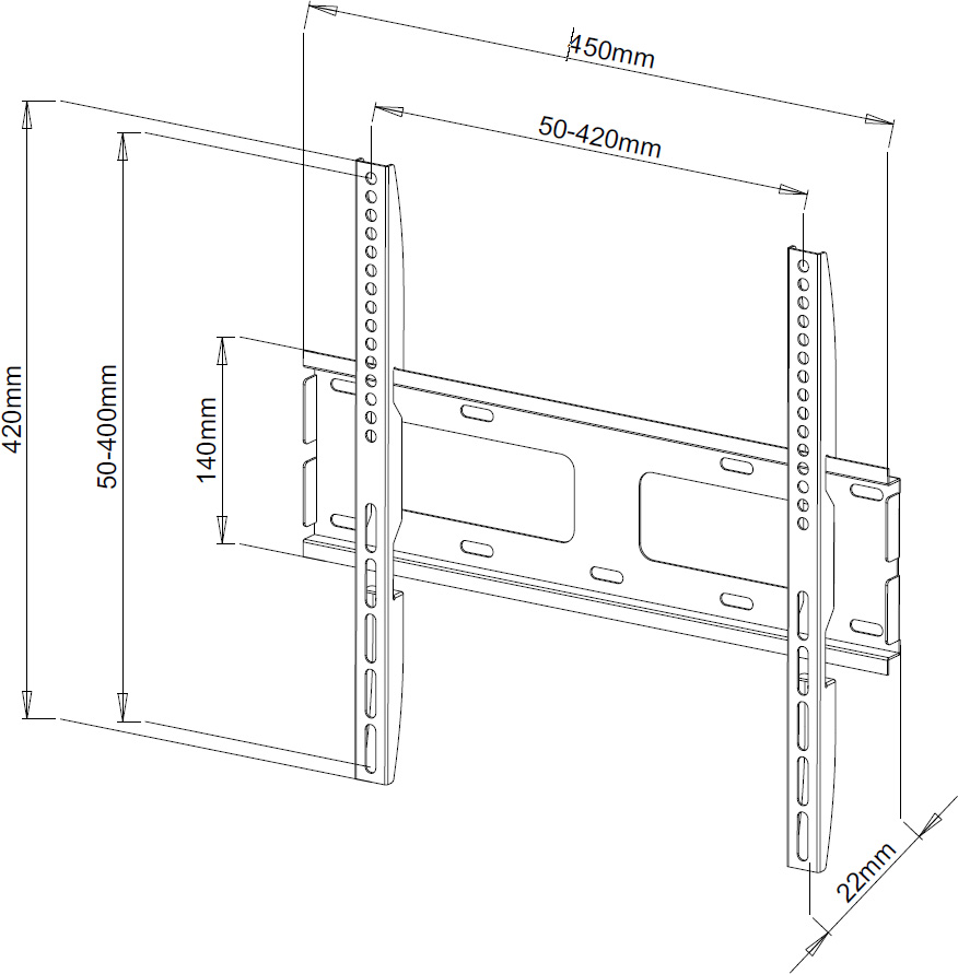 Ultra Slim TV Wall Bracket Mount LG Panasonic 32 37 40 43
