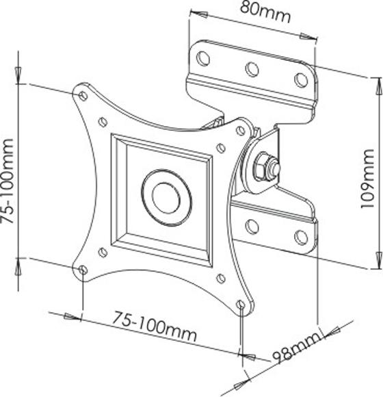 Tilt and Turn TV Wall Bracket Mount JVC Logik 16 19 20 22