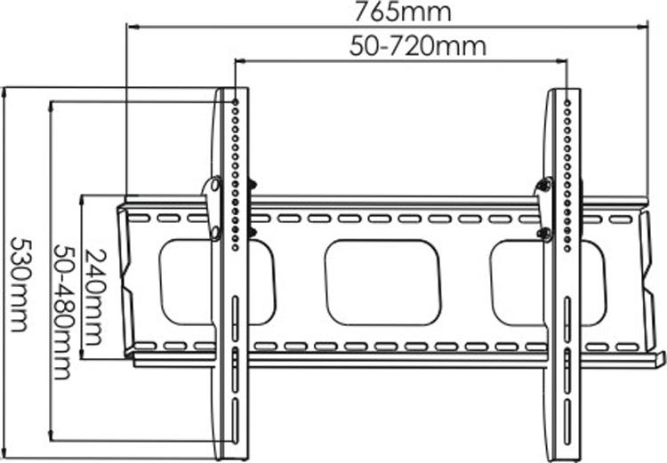 Slim Tilting Universal TV Wall Bracket for Panasonic 58