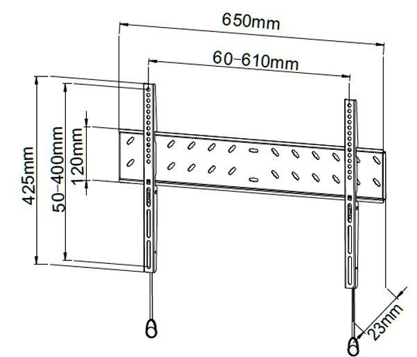 Stealth Mounts SM141L Universal LCD/LED/Plasma Low Profile