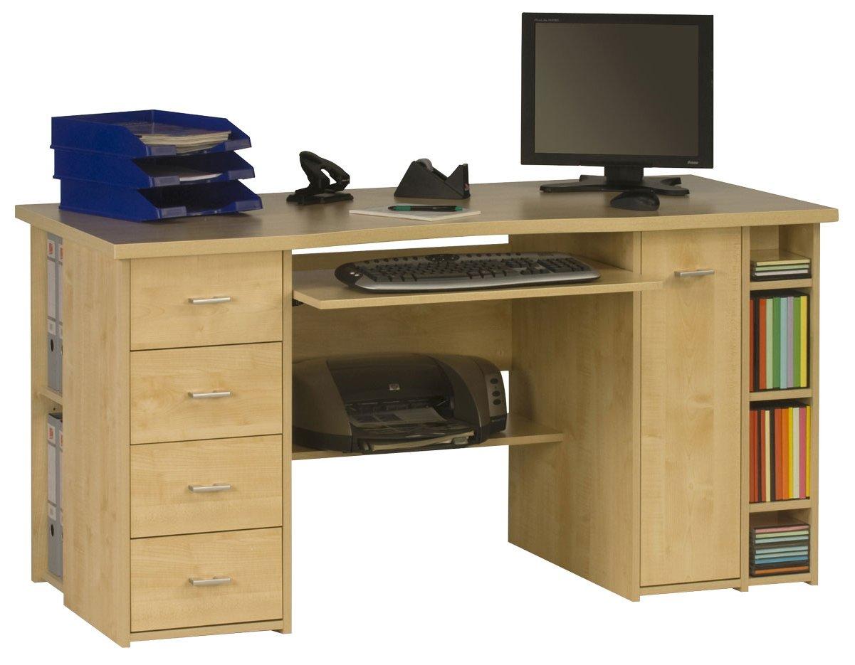 desk chair tesco powerline roman review maja banbury maple computer