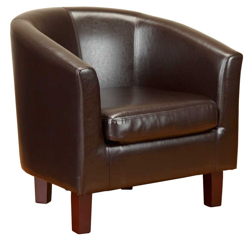 black leather sofa quick delivery modular tok stok pu tub chair in brown