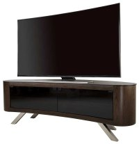 AVF Bay Curved TV Stand in Walnut