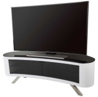 AVF Bay Curved TV Stand in White