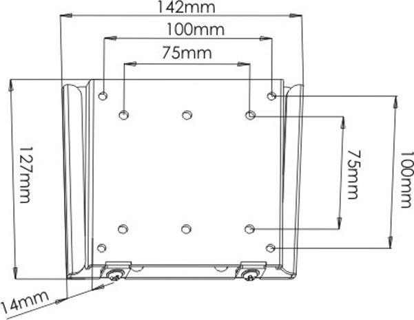 Ultimate Mounts UM110 Flat Black Fixed LCD Wall Mount