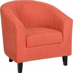 Orange Bucket Chair Walking Cane Seats Provincial Home Tempo Chairs And Sofas