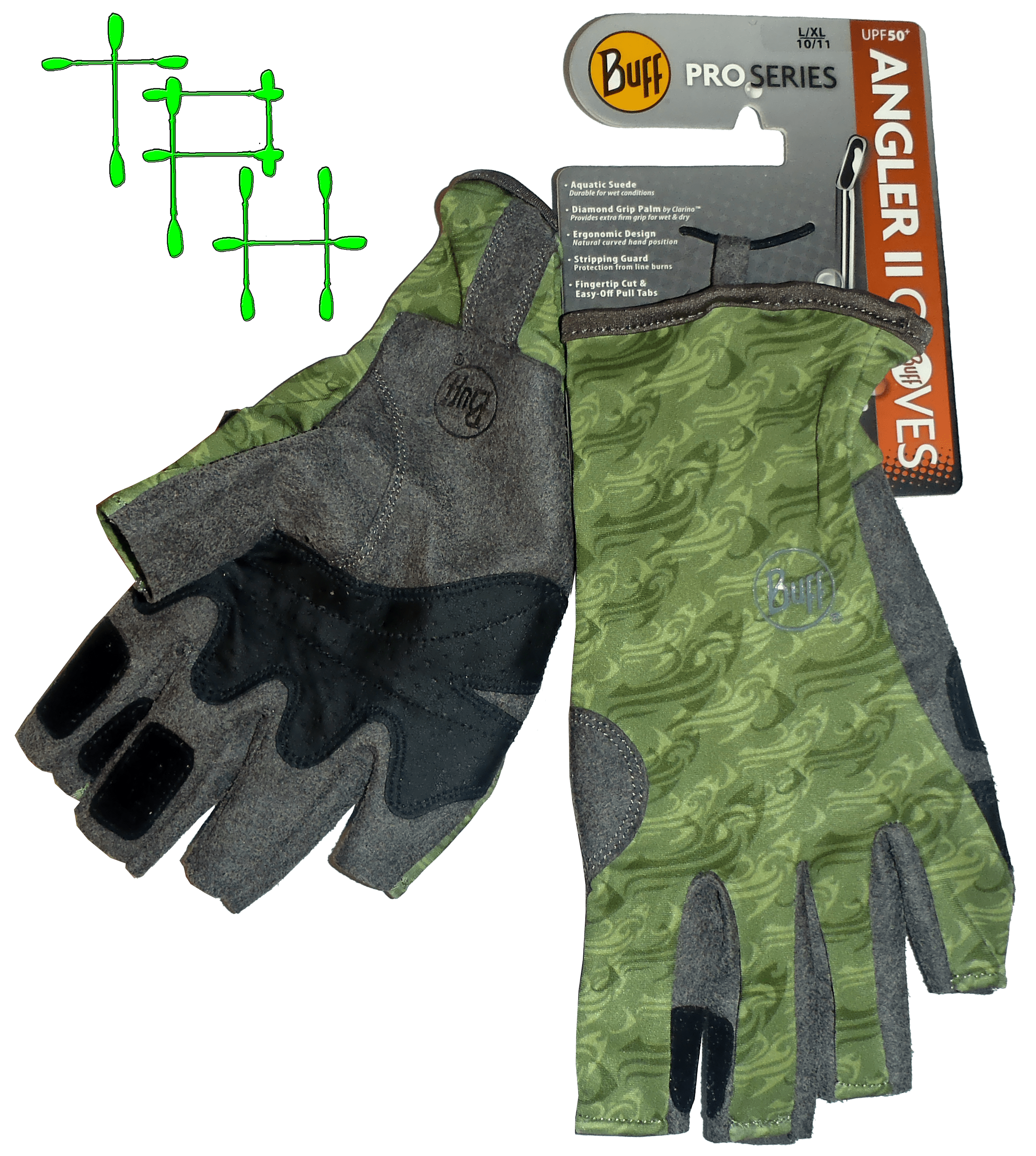 Review buff pro series angler gloves the plastic hull for Buff fishing gloves