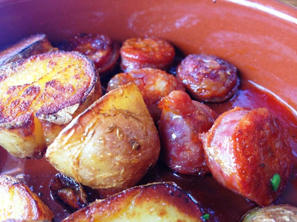 chorizo potatoes La Cuina Cardiff