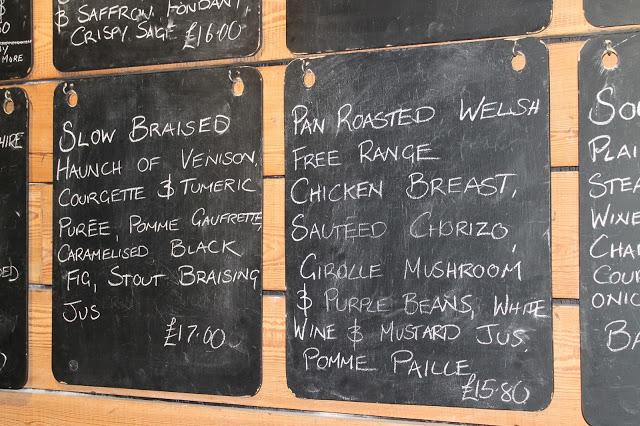 menu Bunch of Grapes Pontypridd