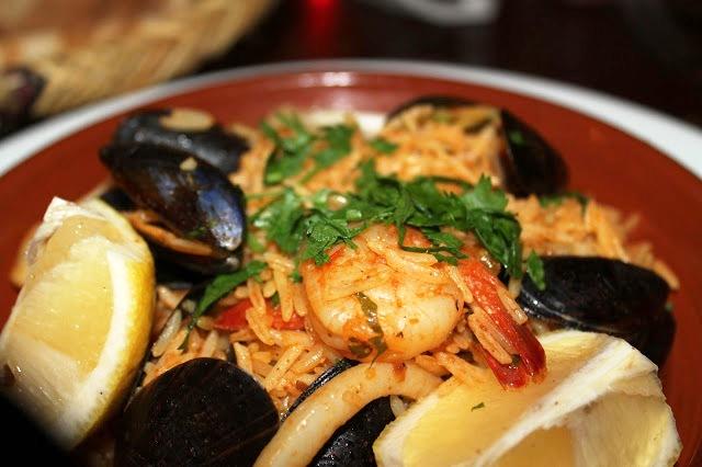 seafood rice Mezza Luna Cardiff