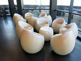The seats look like hardboiled eggs.