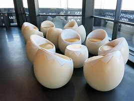 The seats look like hardboiled eggs.