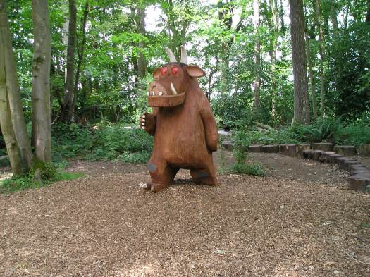 A large wooden gruffulo in the woods