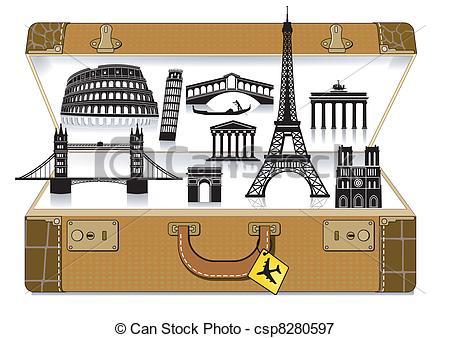 Europe suitcase
