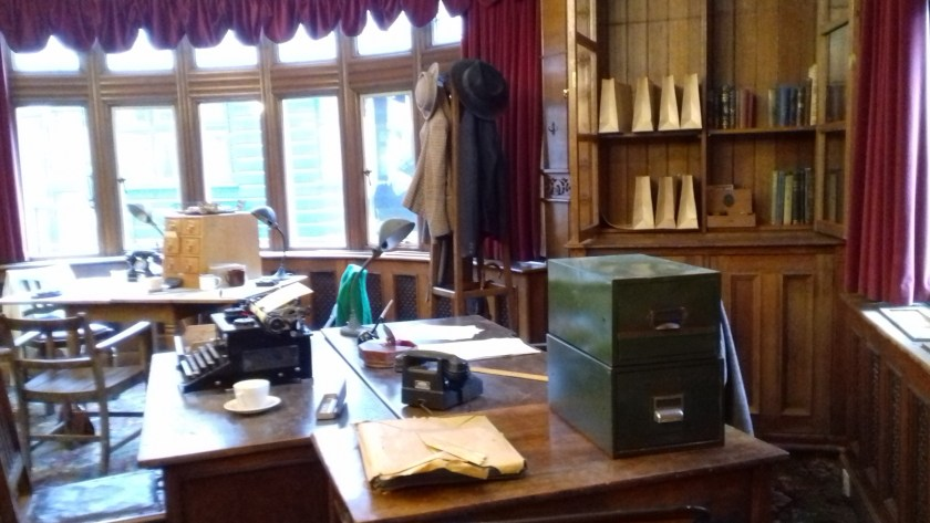 A wartime office recreated inside Bletchley Park