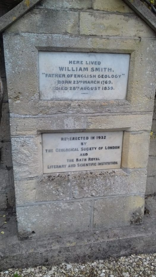 A plaque marking the cottage where William Smith lived.