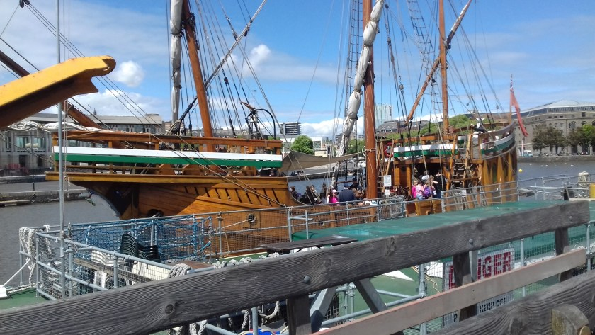 A replica of the Mathew, the boat which took John Cabot to America.
