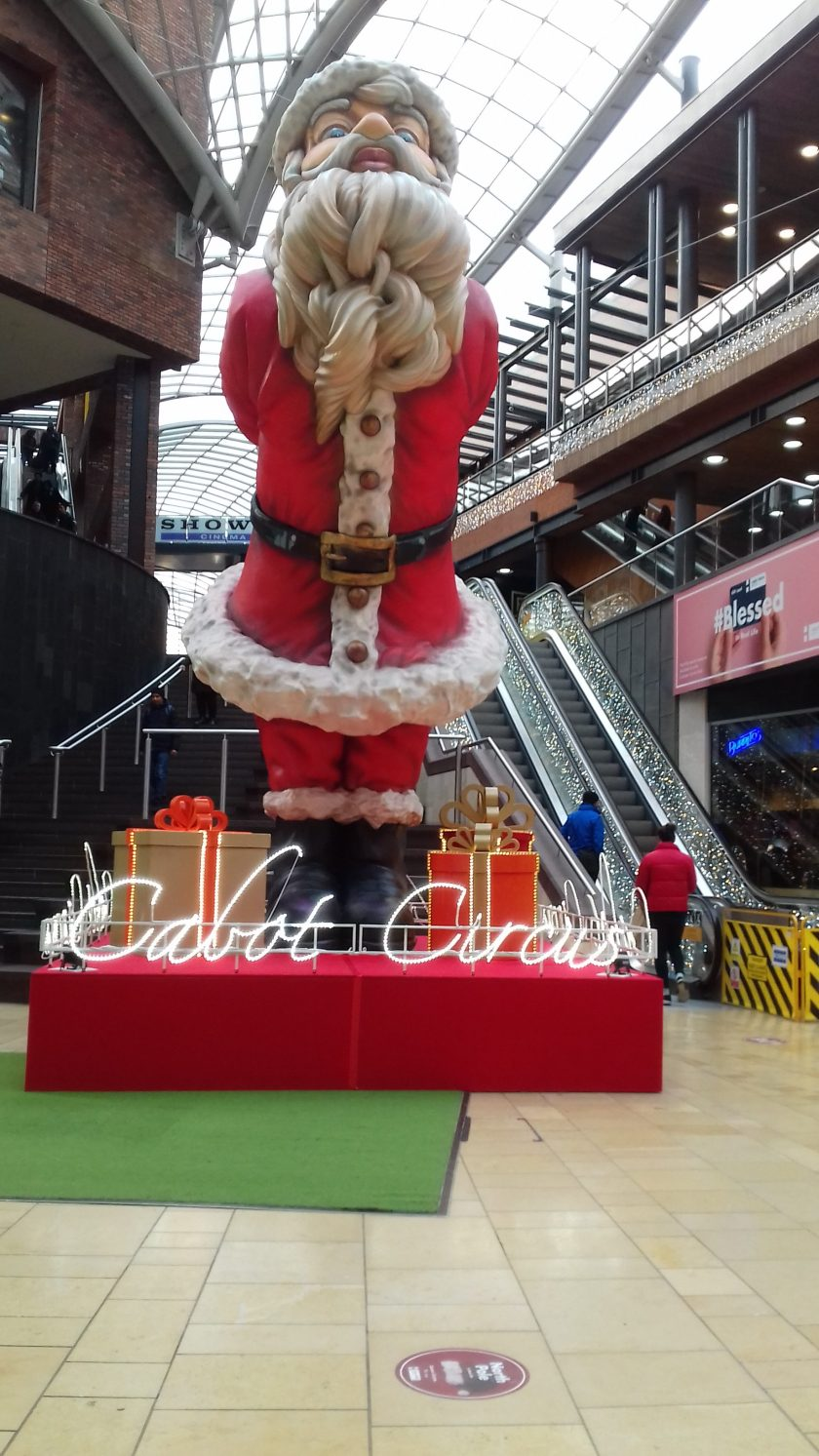 Farther Christmas in Cabot circus #Bristol christmas