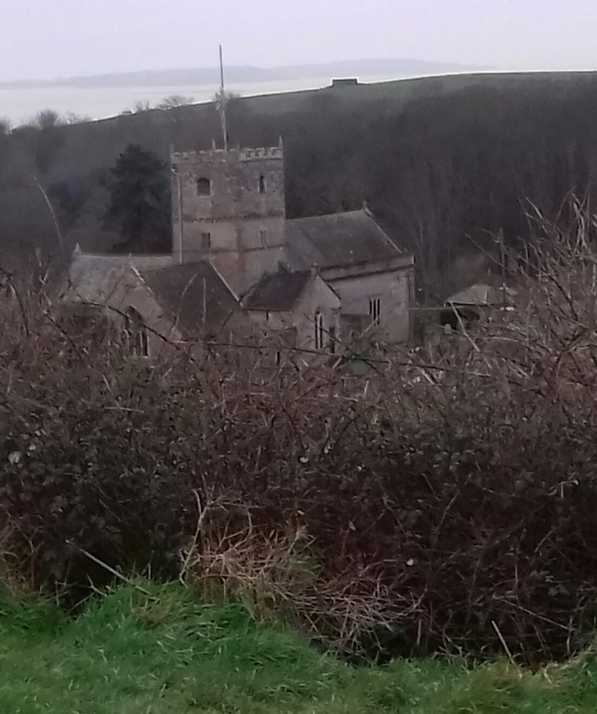 St. Andrews church is hidden in the valley