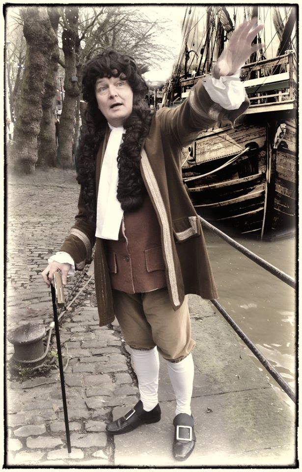 Samuel pepys inspecting a ship