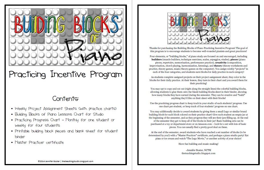 Building Blocks of Piano Incentive Program