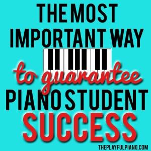 piano student success