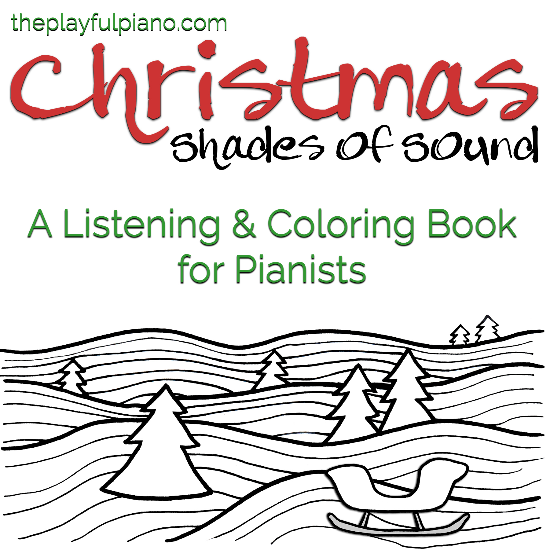 Shades Of Sound Listening Coloring Book Christmas