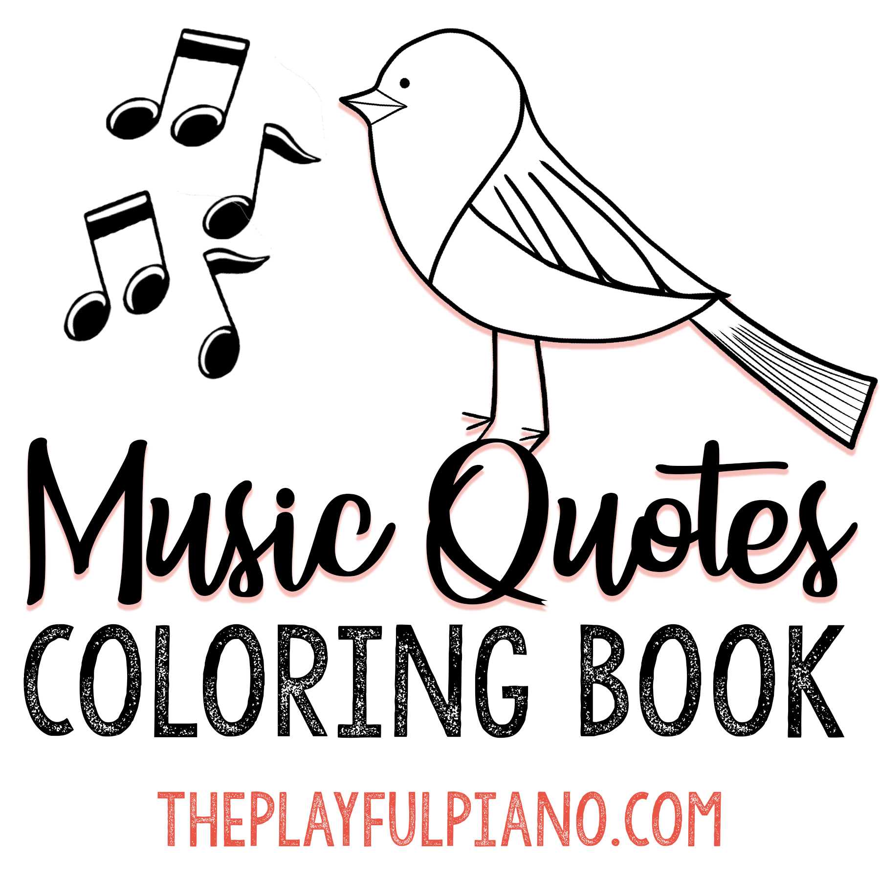 - Music Quotes Coloring Book – The Playful Piano