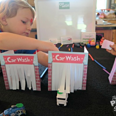 Creating An Early Math Game with Mother Goose Time's Car Wash Lesson Plan