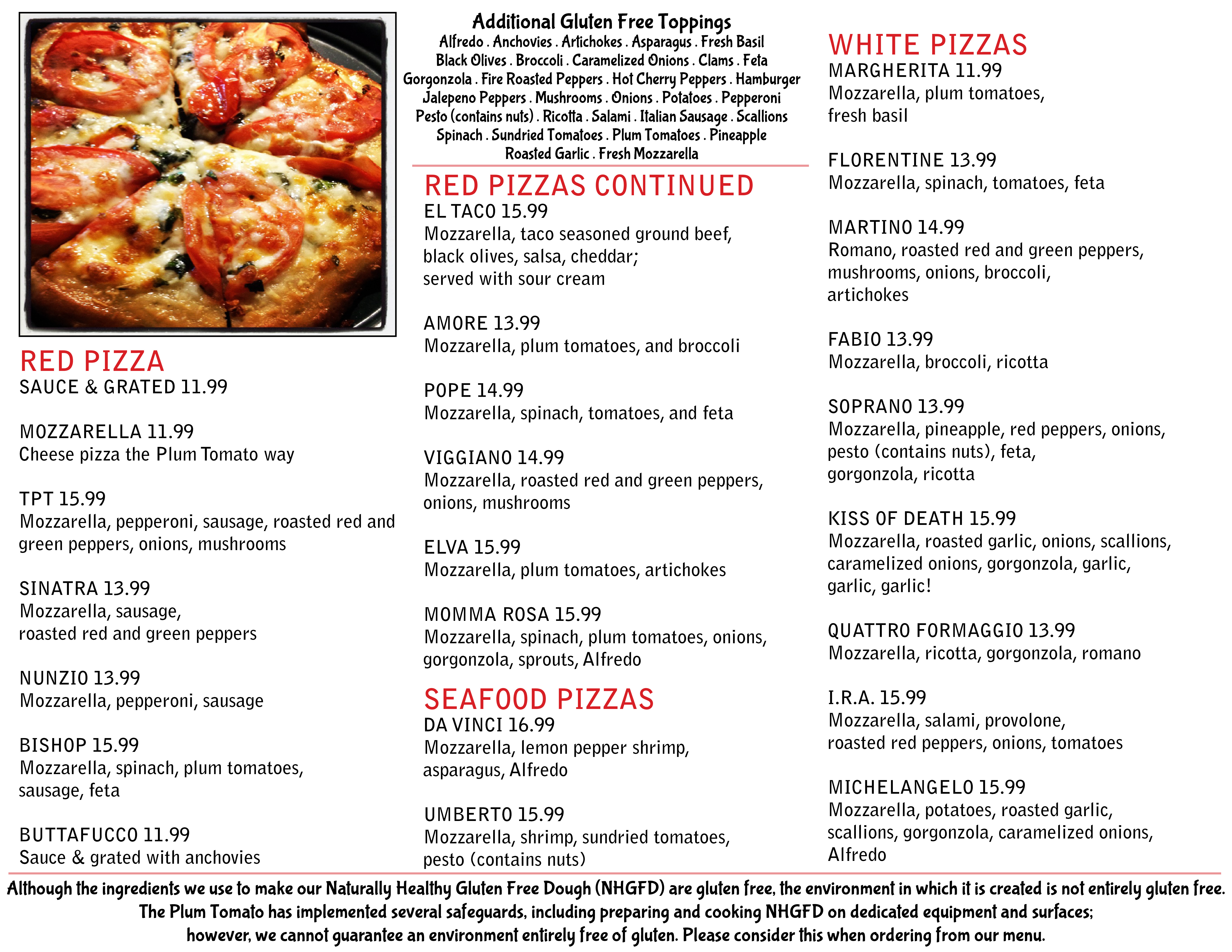 Gluten Free Menu Second Revision Side 2