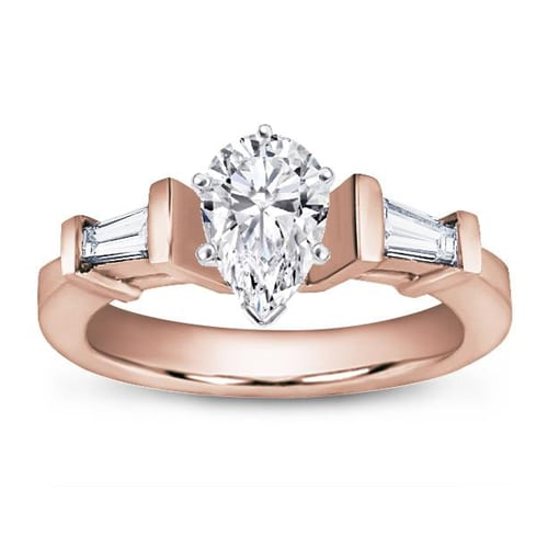Tapered Baguette Engagement Ring  The Plunge