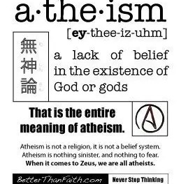 It is Why They are Called Atheists