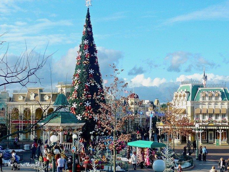 albero di Natale Main street Disneyland Paris