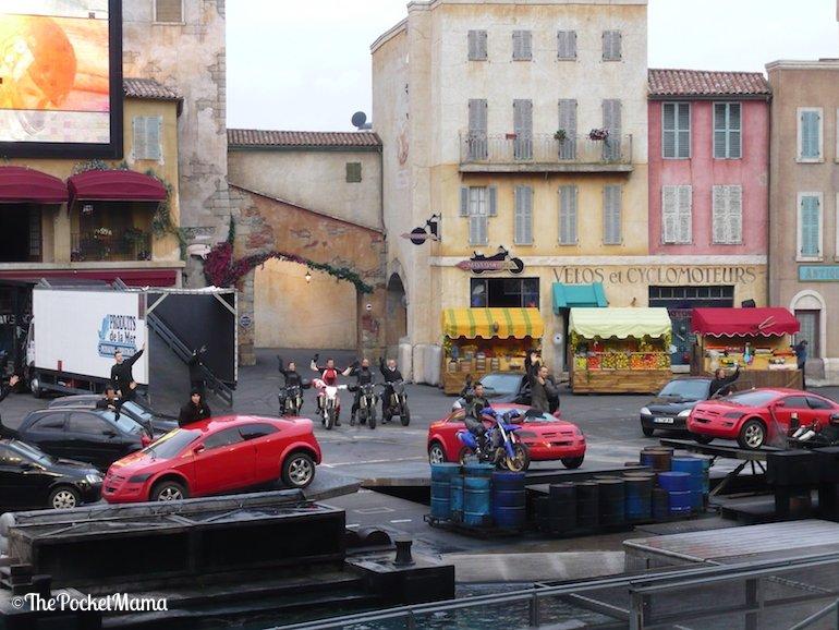 stuntman dello show moteurs action