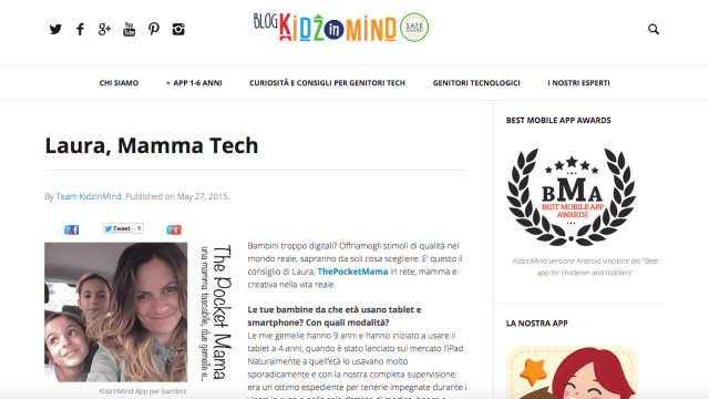intervista The Pocket Mama su KidzInMind