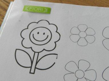 cartamodello fiori