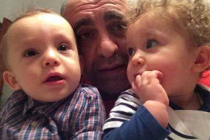 Michele papà di due gemelli
