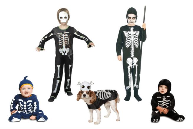 costumi di Halloween - bambini scheletri