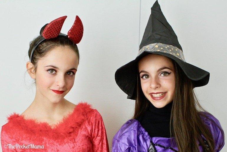 costumi di halloween - diavoletta e streghetta