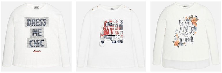 magliette mayoral bianche
