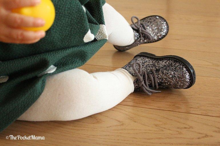 scarpe glitter Melania neonata